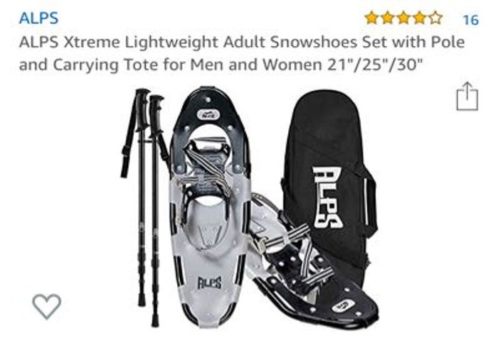 "ALPS Xtreme Lightweight Snow shoes 21"" - 1"