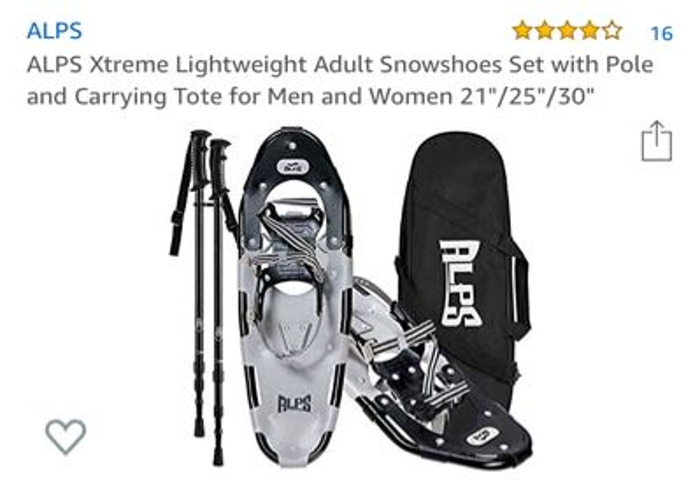 """ALPS Xtreme Lightweight Snowshoes 25"""" - 1"""