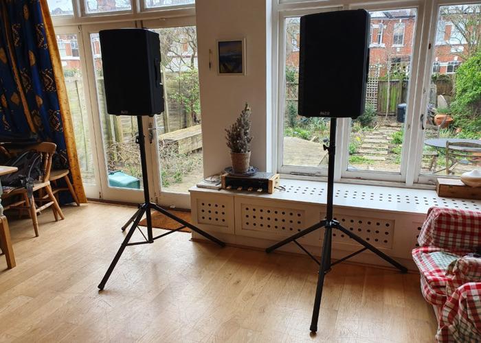 Alto TX215 600 Watt Active Speakers With Stands, for parties, weddings, bands, DJs - 1