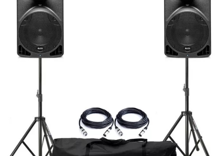 """Rent Alto TX8 2-Way 280w 8"""" Active PA Speakers in London"""
