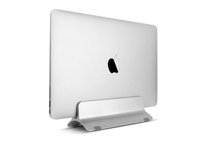 Aluminium Vertical Laptop Stand Holder Space Saving For Notebooks Macbook Pro/Macbook Air - 1