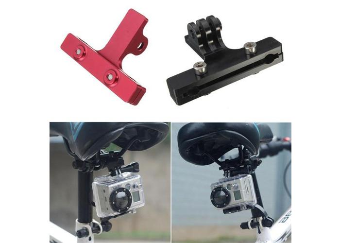 Aluminum Bike Saddle Rail Camera Bike Seat Mount For GoPro 2 3 3 Plus 4 Xiaomi Yi SJcam - 1