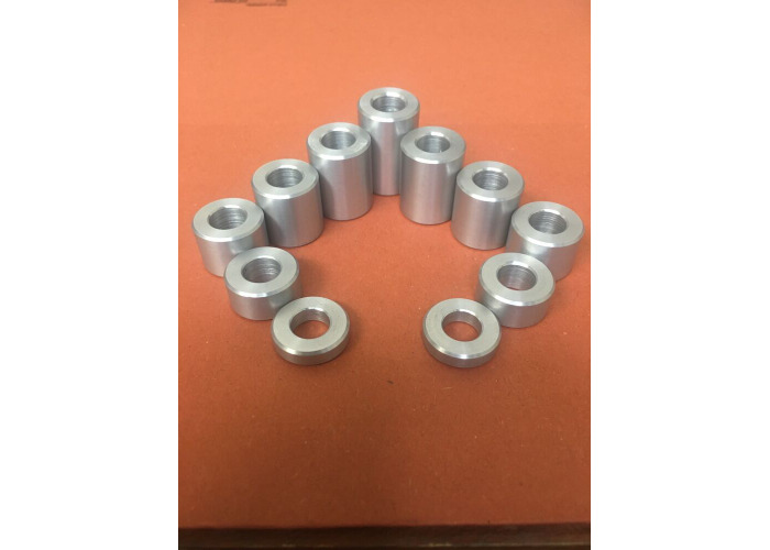 Aluminum Spacers Collar Bushes Hole Size 3mm 4mm 5mm 6mm 8mm 10mm 12mm   - 1