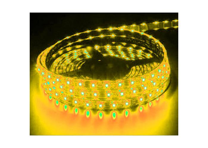 amber 12V 5M 60 SMD LED STRIP LIGHT CAR CARAVAN BOAT KITCHEN SPOT FLEXIBLE - 1