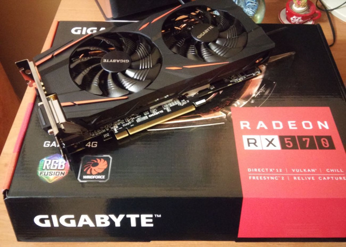 Rent AMD Radeon RX 570 Graphics Card (Gigabite)  GPU in London