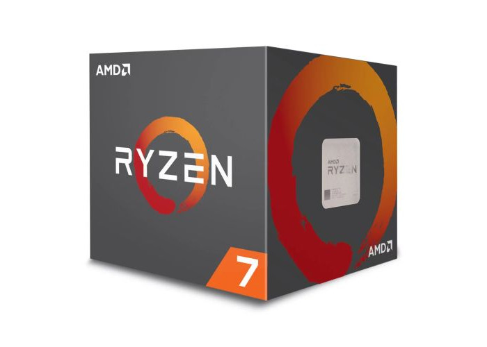 AMD Ryzen 7 2700X CPU with Wraith Cooler, AM4, 3.7GHz (4.3 Turbo), 8-Core, 105W, 20MB Cache, 12nm, RGB Lighting, No Graphics - 1
