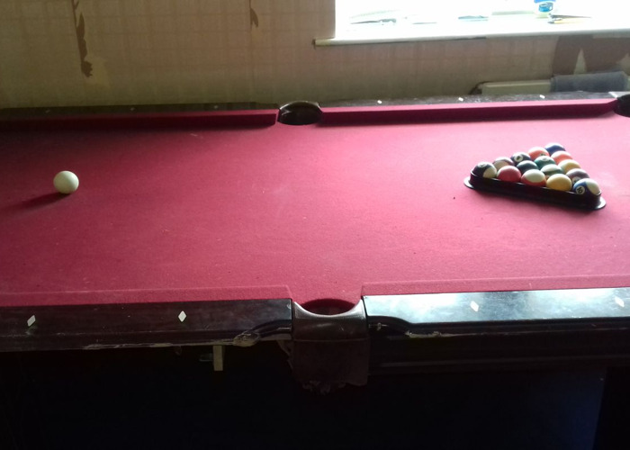 American Pool Table approx 2 metres long and 1 meter wide - 2