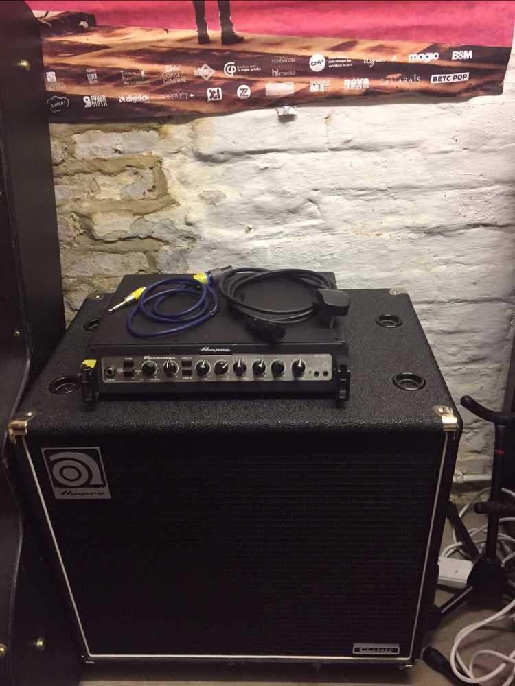 Ampeg Bass Head and Cab  Amp - 1