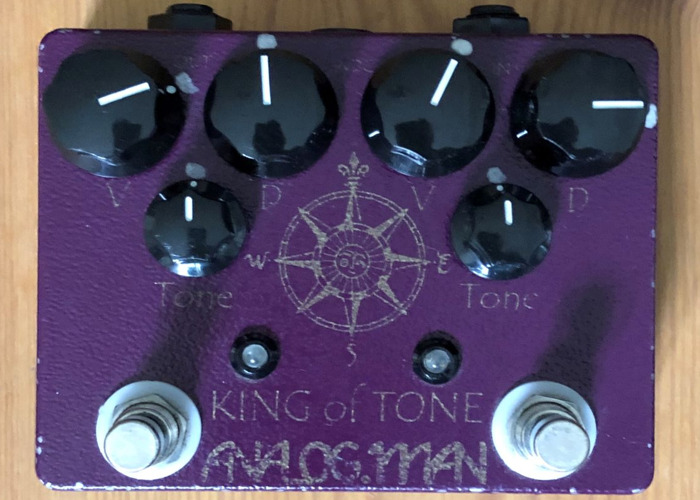 AnalogMan King Of Tone Overdrive Guitar Effects Pedal - 1