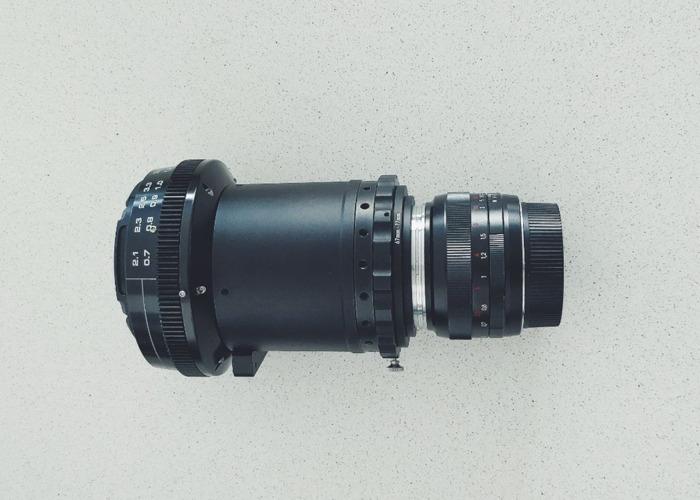 Anamorphic Cinema Lens (Zeiss 50mm + Elmo +HCDNA) - 1