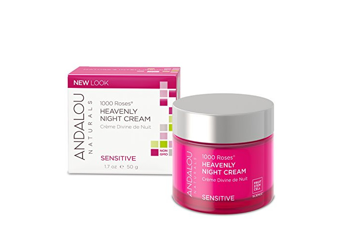 Andalou Naturals 1000 Roses Heavenly Night Cream, 1.7 Ounce, For Sensitive, Dry, Delicate or Easily Irritated Skin, Soothes & Calms - 1