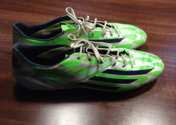 Andre Gray Signed Boots (match worn) (hattrick) - 1