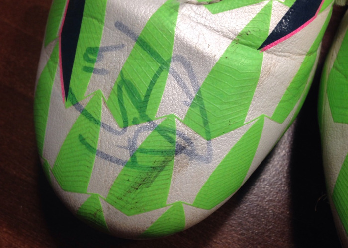 Andre Gray Signed Boots (match worn) (hattrick) - 2