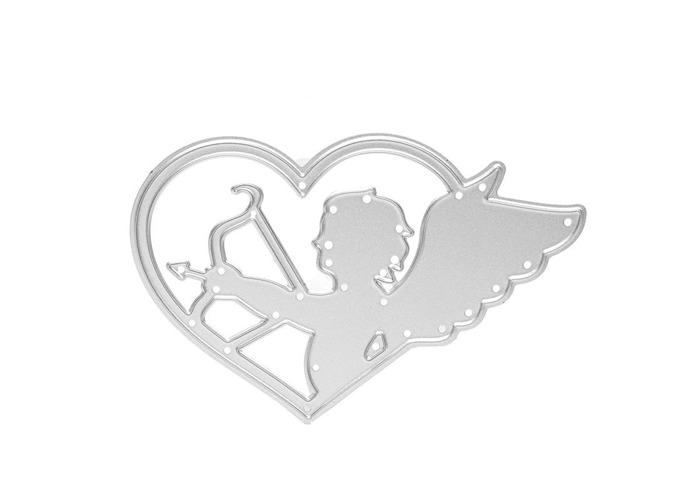 Angel Cupid Pattern Scrapbooking DIY Album Card Paper Craft Maker Metal Cutting Dies 5.1x8cm - 1