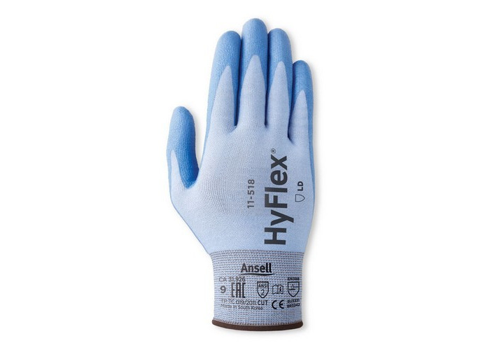 Ansell AN11-518L Hyflex Gloves Light Weight Cut Resistant Size 9 Large - 1