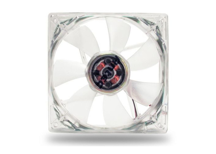Antec Pro 8cm Clear Case Fan, 2600RPM, 3-pin with 4-pin Adapter - 1
