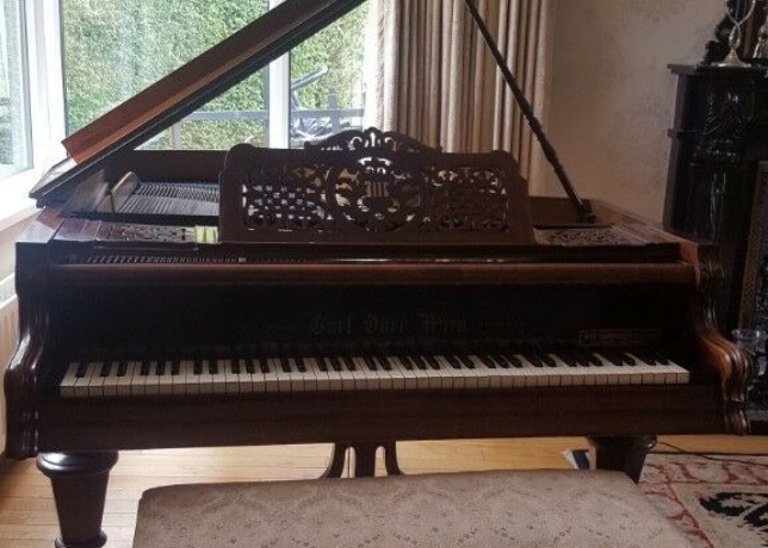 Antique baby grand piano and double piano stool - Carl Dorr Wien - 2