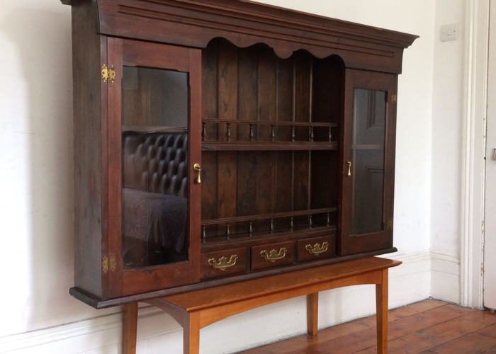 Antique Cabinet with Glass Windows - 1