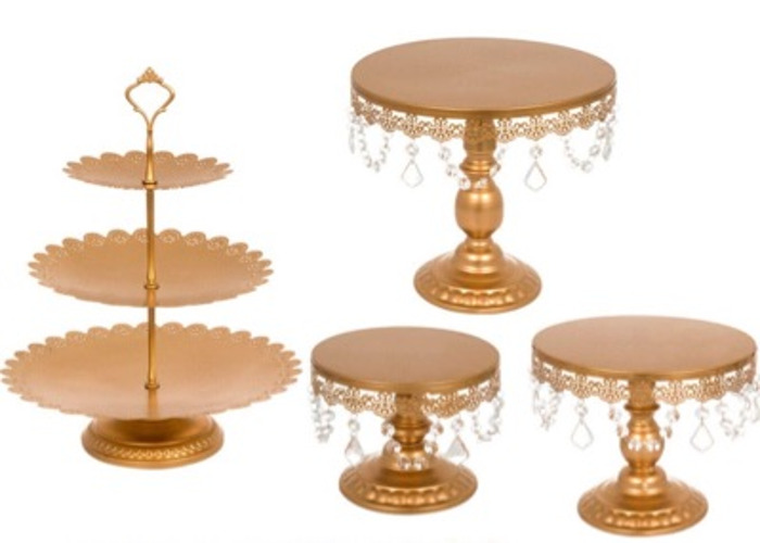 ANTIQUE PARTY CAKE STAND SET - 2