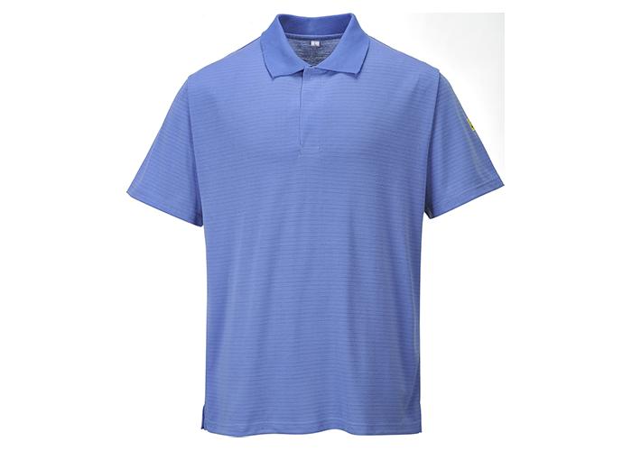 Antistatic ESD Polo Shirt  HosBlu  3 XL  R - 1