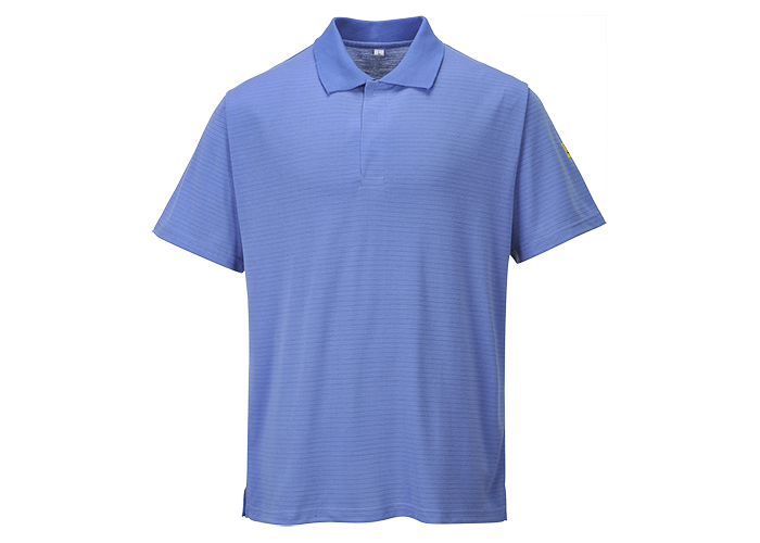 Antistatic ESD Polo Shirt  HosBlu  Small  R - 1