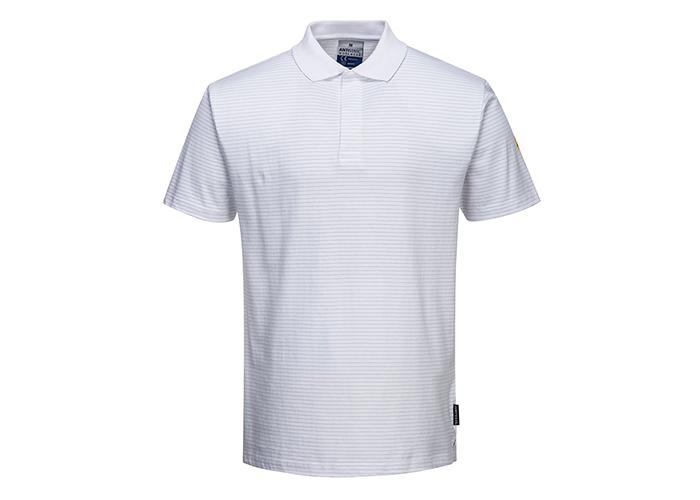 Antistatic ESD Polo Shirt  White  XL  R - 1