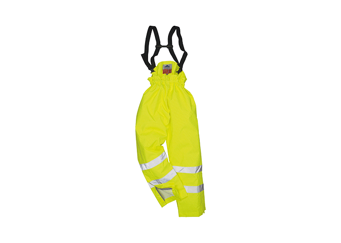 Antistatic FR Lined Trs  Yellow  Large  R - 1