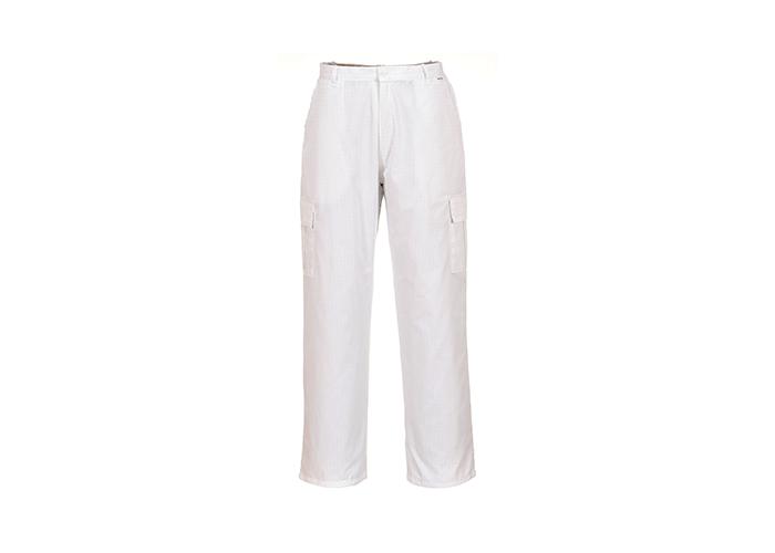 Antistatic Trousers  White  Medium  R - 1