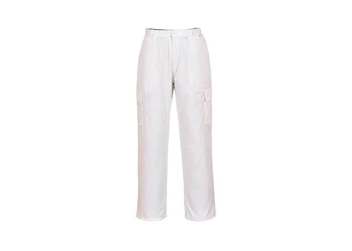 Antistatic Trousers  White  XXL  R - 1