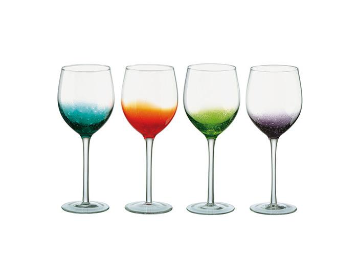 Anton Studio Design Fizz Wine Glasses 21oz / 600ml - Set of 4 - Handmade Wine Glasses - 1