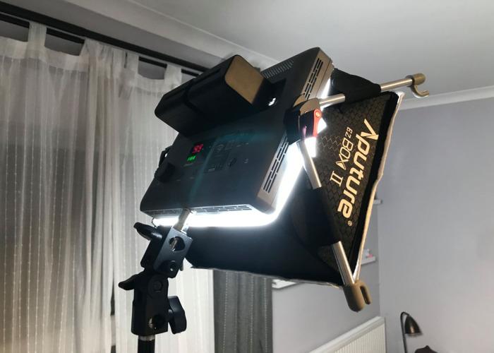 Aperture Amaran HR672S Video/Photo Light + Diffusion Box - 2