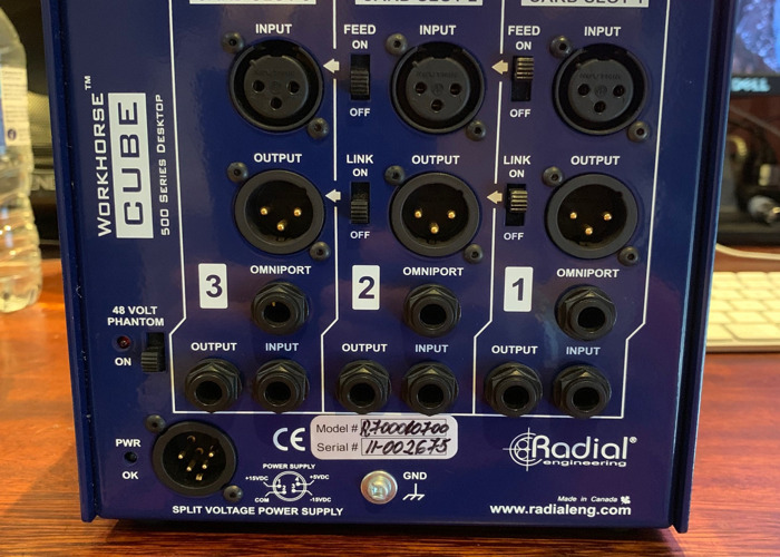 API 512 mic pre amp. Housed in Radial Cube.  - 2