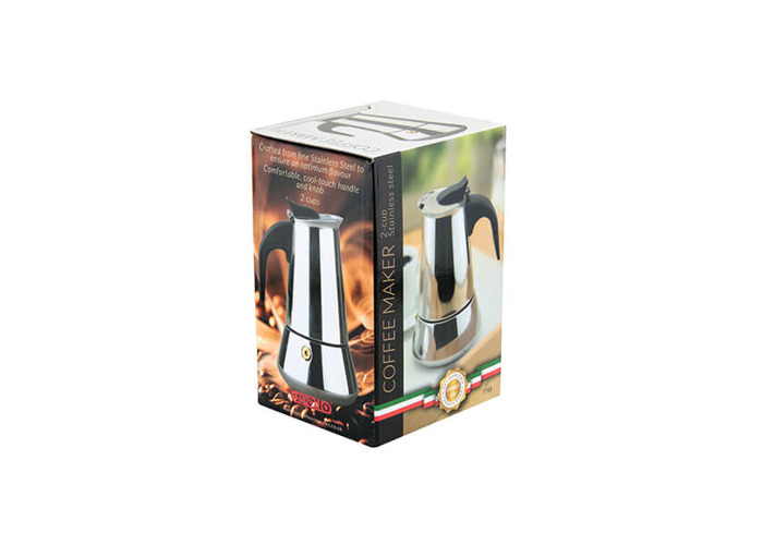 Apollo Stainless Steel Induction 2 Cup Coffee Maker - 2