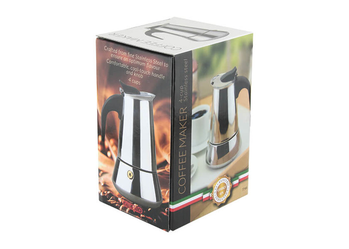 Apollo Stainless Steel Induction 4 Cup Coffee Maker - 2