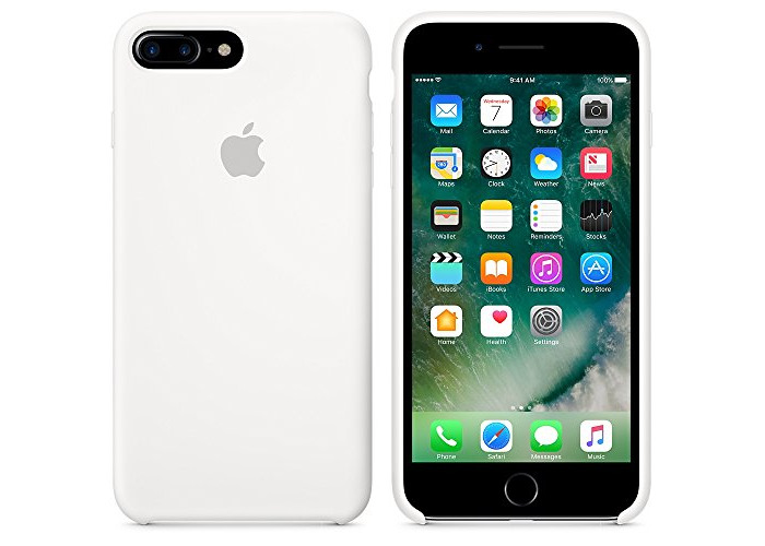 Apple Silicone Back Cover Case for iPhone 7 Plus - White - 2
