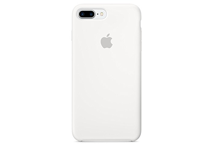 Apple Silicone Back Cover Case for iPhone 7 Plus - White - 1