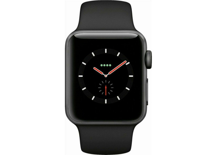 Apple Watch Series 3 GPS+Cellular 38mm Space Grey Aluminium Case Black Strap - 1