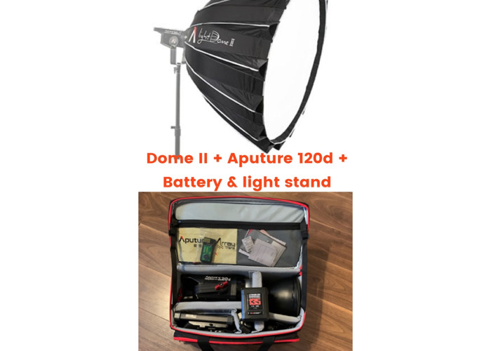 Aputure 120d + Dome II + battery + Light Stand - 1