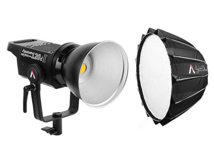 Aputure 120d II LED Light Storm + Light Dome II + Stand - 1