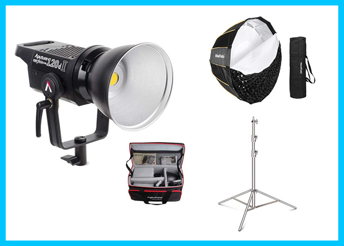 Aputure 120d Mark II LED Light with Softbox & Stand - 1