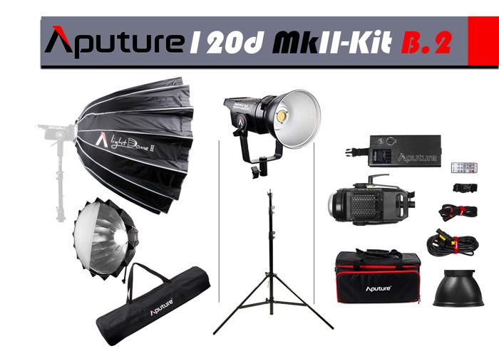 Aputure 120D MkII Light+LightDome II+Stand=KIT.B2 - 1