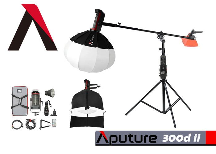 Aputure 300d ii LED+ LANTERN+BoomStand+5kgWeight - 1