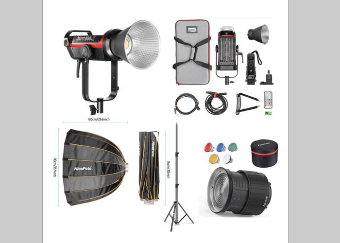 Aputure 300D Mark II (2019 model) + Led Light Kit + Dome + Fresnel + Stand - 1