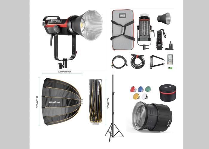 Aputure 300D Mark II (X2 Lights kits) + Led Light Kit + Fresnel + Dome + Stand - 1