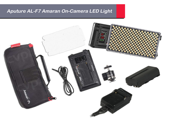 Aputure AL-F7 Amaran On-Camera LED Light + Light Stand - 1