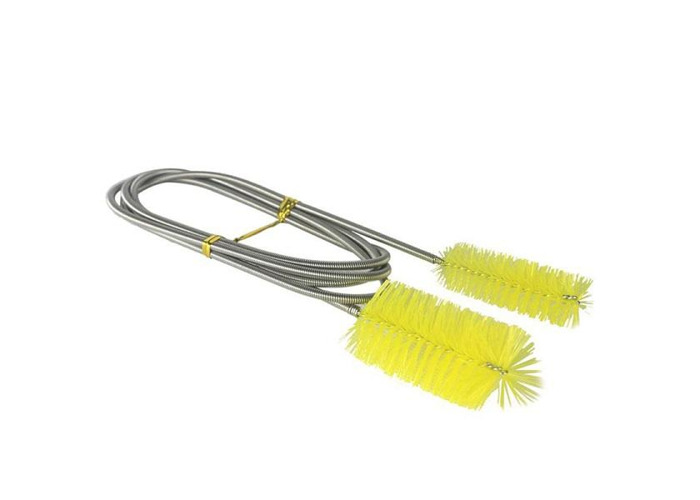 Aquarium Double Head Brush Yellow Cleaning Tool For Filter Pump Pipe - 1