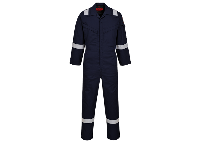Araflame Silver Coverall  Navy  34  R - 1