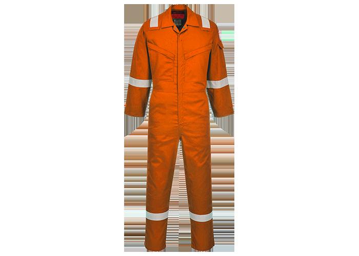Araflame Silver Coverall  Orange  42  R - 1