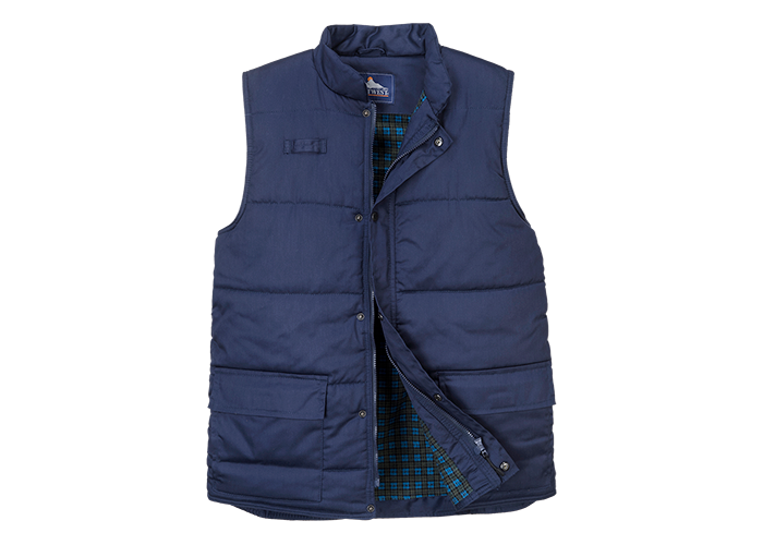 Aran Bodywarmer  Navy  Medium  R - 1