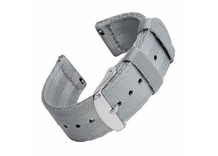 Archer Watch Straps Seat Belt Nylon Quick Release Bands   Multiple Colors- 18mm- - 2